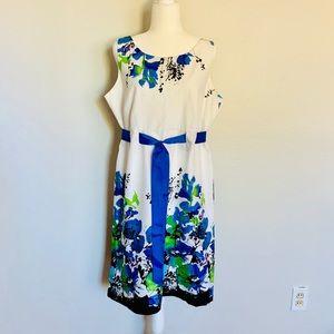 NWOT Karin Stevens Watercolor Floral Dress
